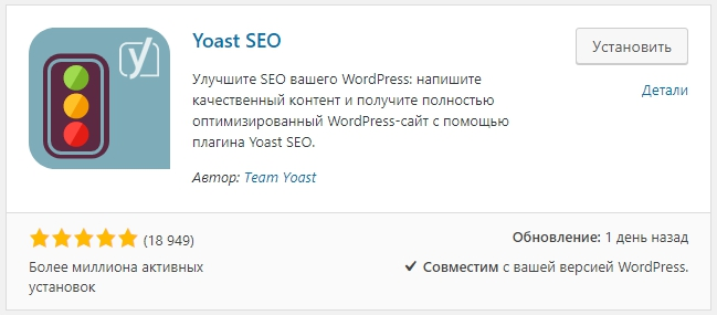 Yoast плагин для WordPress