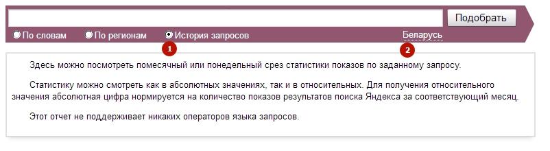 Оценка трендов в Яндекс Вордстат