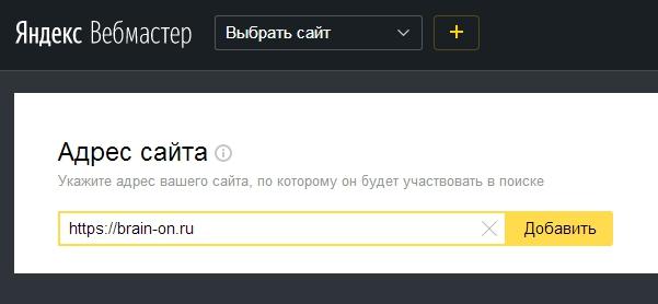 Вводим адрес сайта с протоколом https